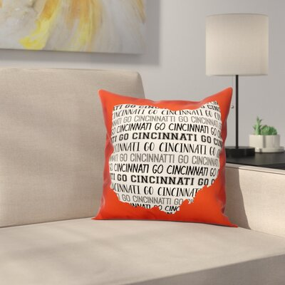Ohio Go Team Square Throw Pillow