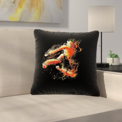 BarmalisiRTB Strong Fighter Outdoor Throw Pillow Size: 16 H x 16 W x 5 D