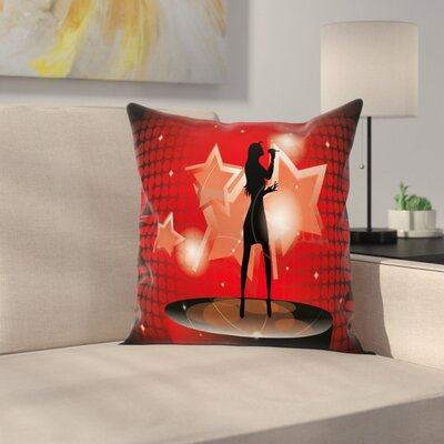Woman Singer Star Square Pillow Cover Size: 24 x 24