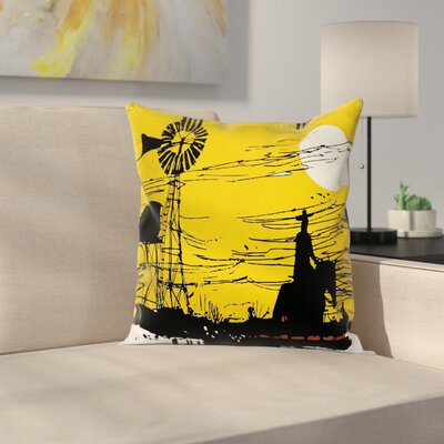 Windmill Decor Australia Sunset Square Pillow Cover Size: 24 x 24