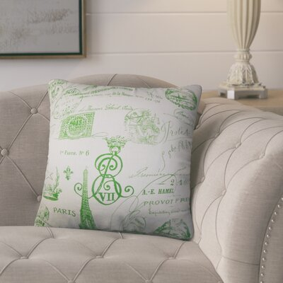 Bevis Typography Cotton Throw Pillow Color: Green