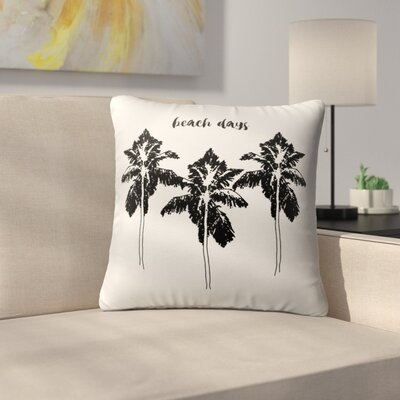Square Indoor/Outdoor Throw Pillow Size: 16 x 16, Color: Black/ White