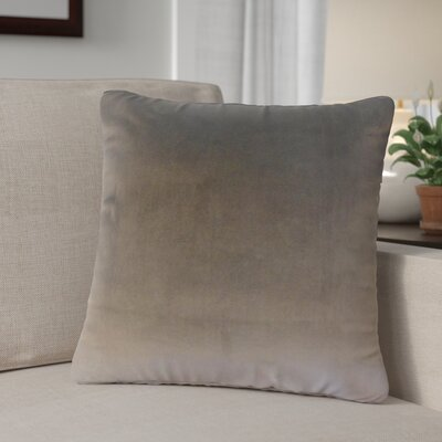 Theriault Solid Cotton Throw Pillow Color: Coal