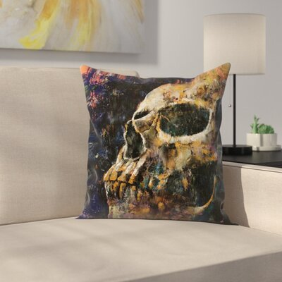 Michael Creese Skull Throw Pillow Size: 14 x 14