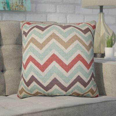 Bouck Zigzag Cotton Throw Pillow Color: Blue