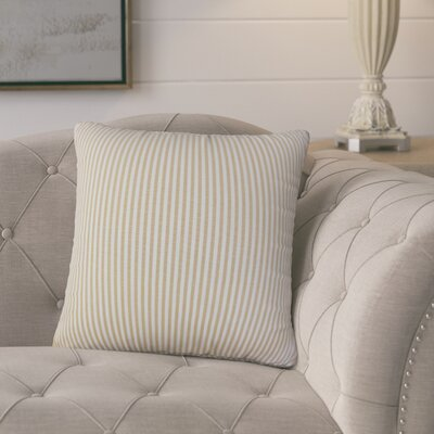 Melinda Stripes Throw Pillow Cover Color: Honey