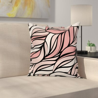 Ombre Abstract Pattern Square Pillow Cover Size: 16 x 16