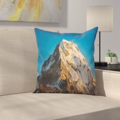 Nature Himalaya Mountains Square Pillow Cover Size: 16 x 16