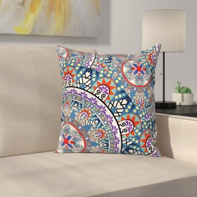 Modern Floral Geometric Pillow Cover Size: 24 x 24