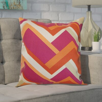 Mcleroy 100% Cotton Throw Pillow Color: Mango, Size: 18 H x 18 W