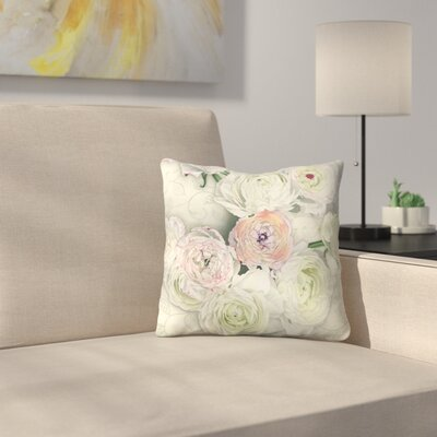 Ranunculus Throw Pillow Size: 14 x 14