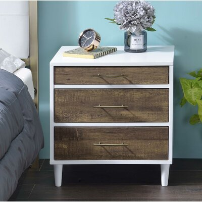Lockett 3 Drawer Nightstand