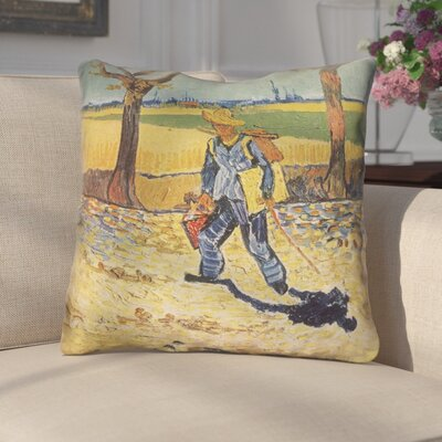 Zamora Self Portrait Linen Throw Pillow Size: 14 x 14