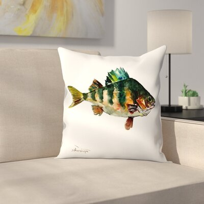 Bass Fish 2 Throw Pillow Size: 14 x 14