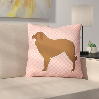 Portuguese Shepherd Indoor/Outdoor Throw Pillow Size: 14 H x 14 W x 3 D, Color: Pink