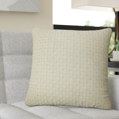 Quintanar Geometric Throw Pillow Color: Peridot