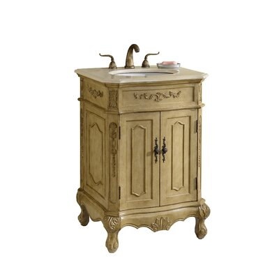 Mangold 27 Single Bathroom Vanity Set Base Finish: Tan