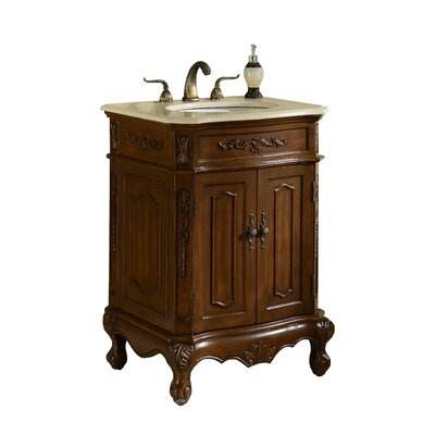 Mangold 27 Single Bathroom Vanity Set Base Finish: Teak