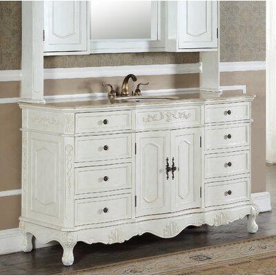 Mangold 60 Single Bathroom Vanity Set Base Finish: Antique White