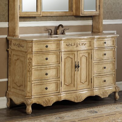 Mangold 60 Single Bathroom Vanity Set Base Finish: Tan