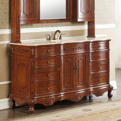 Mangold 60 Single Bathroom Vanity Set Base Finish: Teak