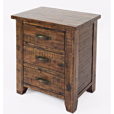 Reddin 3 Drawer Nightstand