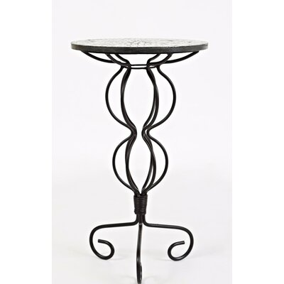 Brittanie Iron Pedestal End Table