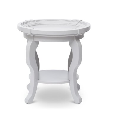 Everts Round End Table with Storage