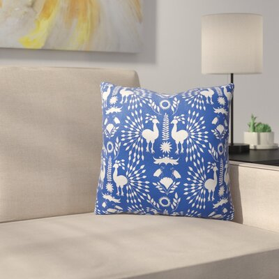 Morel Outdoor Throw Pillow Size: 18 x 18, Color: Blue