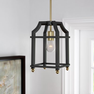 Bartley 1-Light Steel Mini Pendant Finish: Black