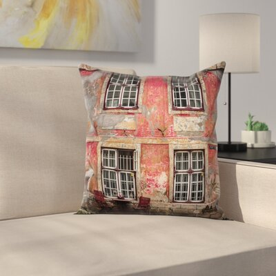 Urban Medieval European Nordic Square Pillow Cover Size: 16 x 16