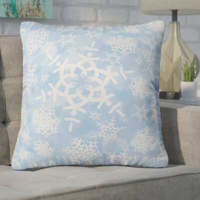 Cruce Snow Flurries Throw Pillow Size: Large, Color: Blue