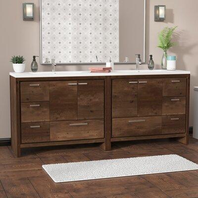 Almendarez Free Standing Modern 83 Double Bathroom Vanity Set