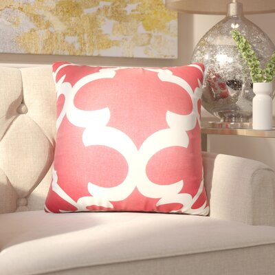 Chitwood Geometric Cotton Throw Pillow Color: Red