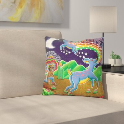 Hikuri Venado Azul Throw Pillow