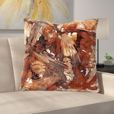 Birds of Prey Throw Pillow Size: 26 H x 26 W x 7 D, Color: Rust Tan / Brown