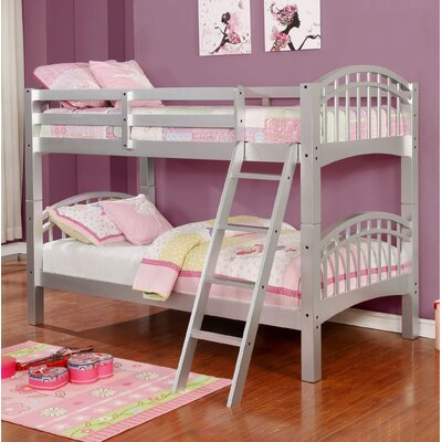 Flynn over Twin Bunk Bed Color: Silver