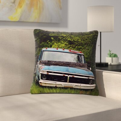 Angie Turner Old Ford Truck Digital Outdoor Throw Pillow Size: 18 H x 18 W x 5 D