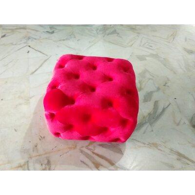 Richborough Square Ottoman Upholstery: Red Velvet