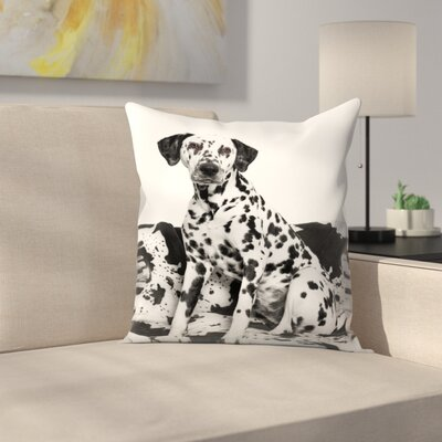 Maja Hrnjak Dalmatian Dog2 Throw Pillow Size: 18 x 18