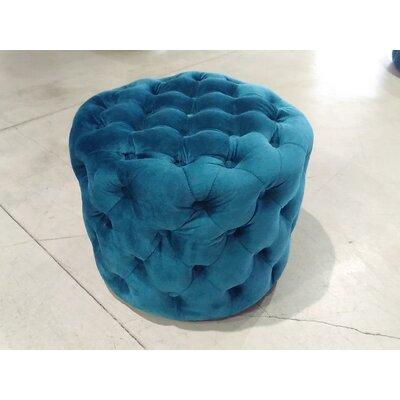Roberta Ottoman Upholstery: Blue Velvet
