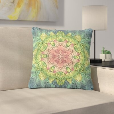 Art Love Passion Celtic Flower Outdoor Throw Pillow Size: 16 H x 16 W x 5 D