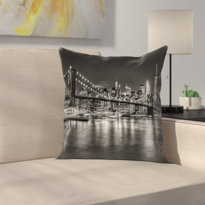 New York City Nightly Impressions Throw Pillow Size: 14 x 14