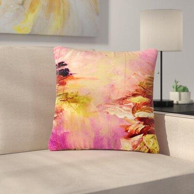 Ebi Emporium Winter Dreamland Outdoor Throw Pillow Size: 16 H x 16 W x 5 D, Color: Pink/Orange