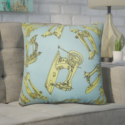 Auger Cotton Throw Pillow