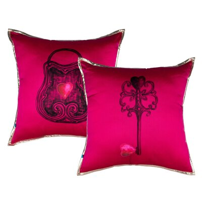 Crisler Queen of Hearts Lock and Key Pillow Cover