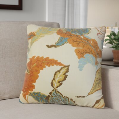 Patton Floral Throw Pillow Color: Autumn, Size: 18 x 18