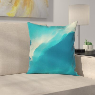 Modern Decor Artwork Cloud Wave Cushion Pillow Cover Size: 18 x 18