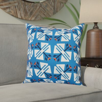 Willa Jodhpur Ditsy Geometric Outdoor Throw Pillow Size: 18 H x 18 W, Color: Blue