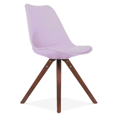 Bridgeyate Side Upholstered Dining Chair Upholstery Color: Lavender, Leg Color: Walnut